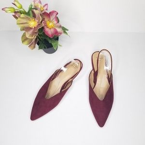 NWOT A New Day Size 10 Slingback Red Pointy Flats